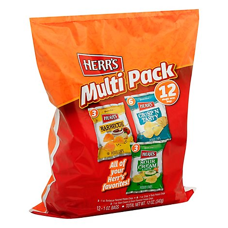 Herrs 12 Count Multipack Potato Chips - 12 OZ