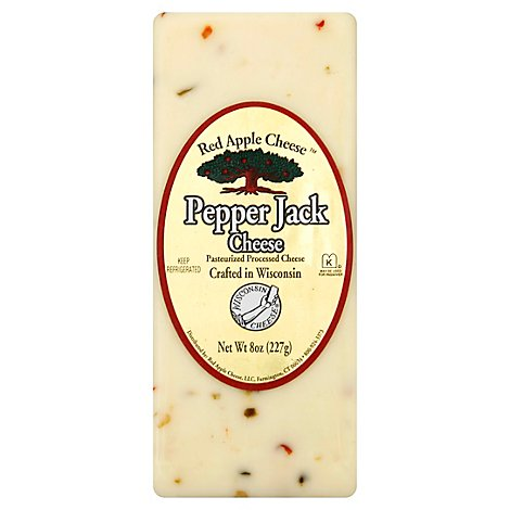 Red Apple Cheese Pepper Jack - 8 OZ