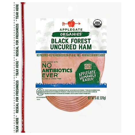 Applegate Farms Organic Black Forest Ham Organic - 6 OZ