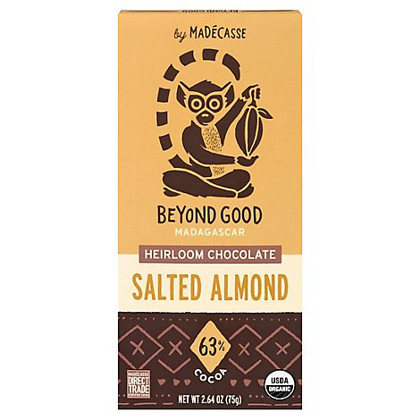 Madecasse Chocolate Bar Salted Almond - 2.64 OZ