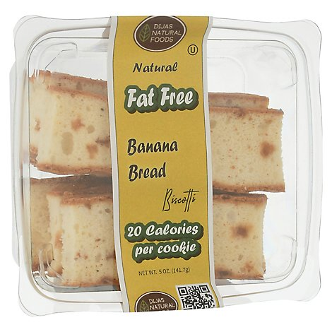 Banana Bread Biscotti Ff/sf - 5.5 OZ