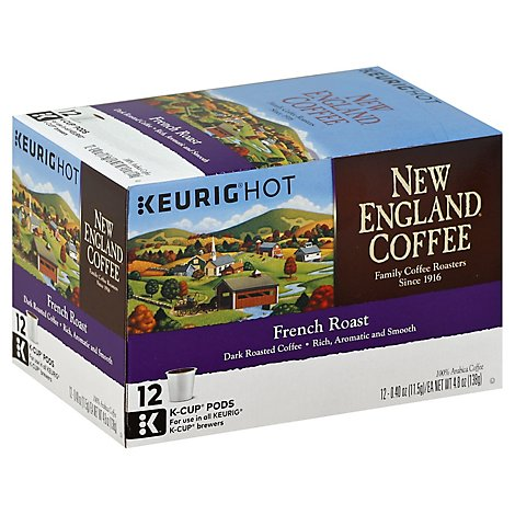 New England Coffee Kcup French Roast - 12 Count