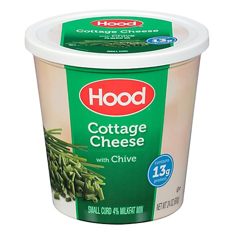 Hood Chive Cottage Cheese Milk Fat 24 Oz - 24 OZ