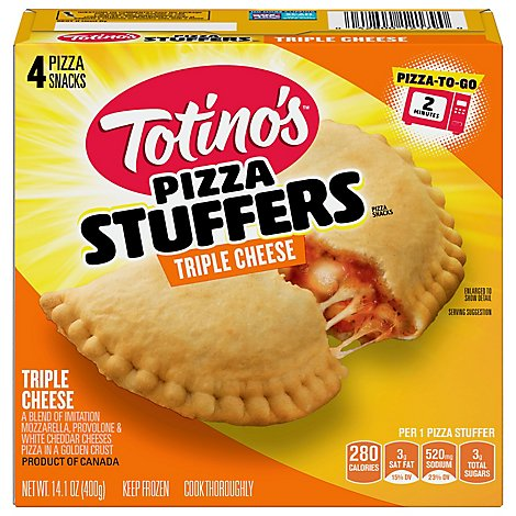 Totino's Triple Cheese Pizza Stuffers 4 Count - 14.1 OZ