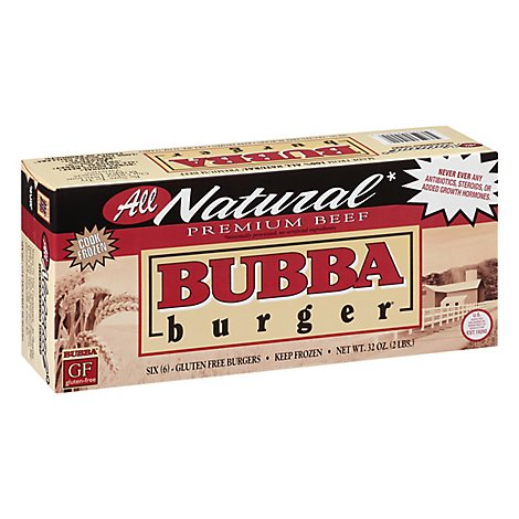 Bubba Natural Beef Burgers - 32 OZ