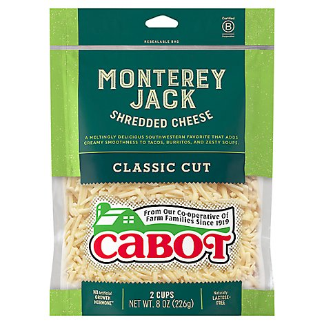 Cabot Monterey Jack Cheese Shreds Cheese - 8 OZ