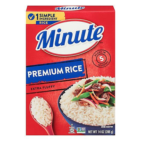 Minute Rice Premium Extra Fluffy - 14 Oz