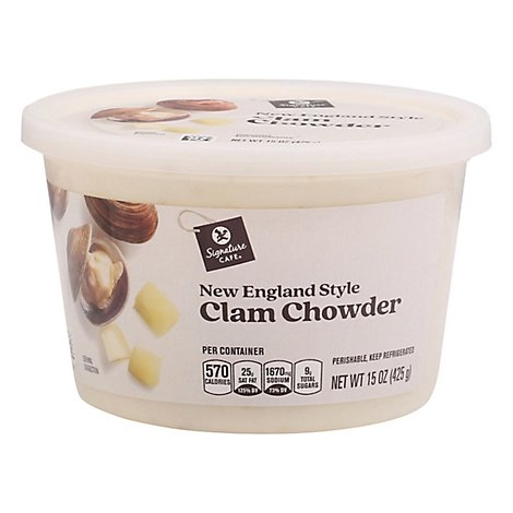 Signature Cafe New England Style Clam Chowder Soup - 15 OZ