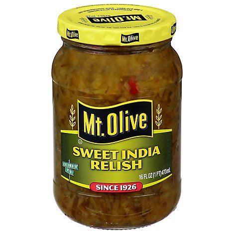 Mt Olive India Sweet Relish - 16 FZ