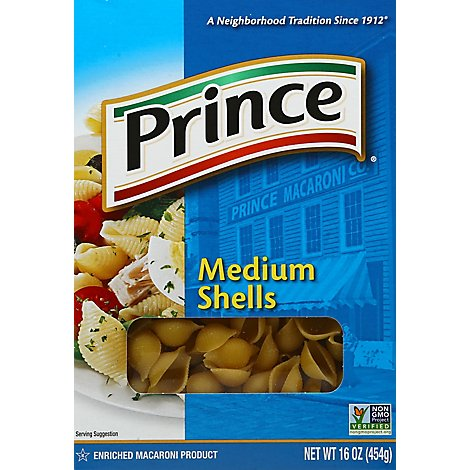 Prince Pasta Shells Medium - 16 Oz