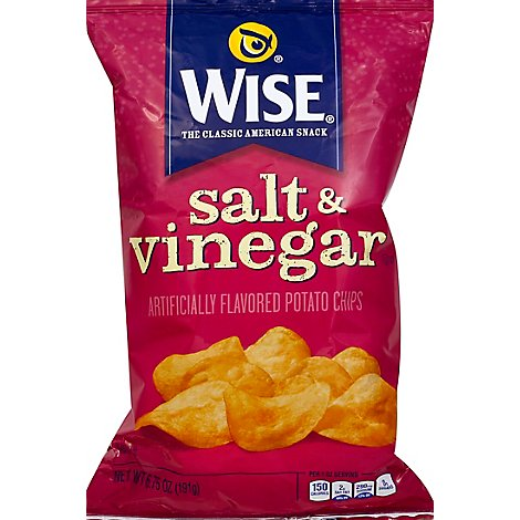 Wise Chips Salt & Vinegar - 6.75 OZ