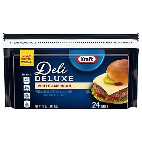 Kraft Deli Deluxe White American Cheese Slices - 16 OZ