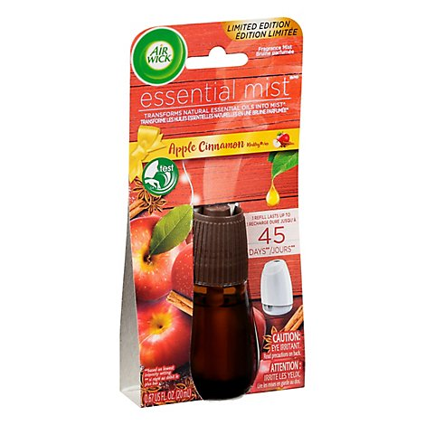 Air Wick Essential Mist Apple Cinnamon Refill - 0.67 Fl. Oz.