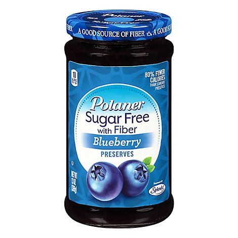 Polaner Sugar Free Blueberry Preserves - 13 OZ