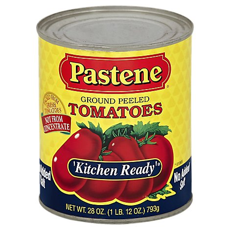 Pastene Kitchen Ready No Salt Tomatoes - 28 OZ