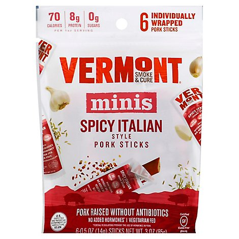 Vermont S Pork Stck Spicy Itln - 3 OZ
