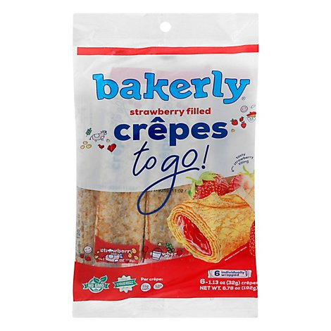 Bakerly Strawberry Filled Crepes 6ct - 6.78 OZ