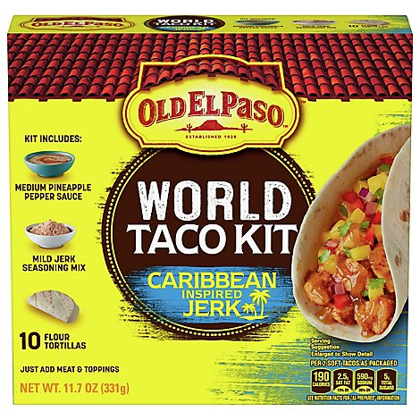 Old El Paso Caribbean Jerk Taco Dinner Kit - 11.7 OZ