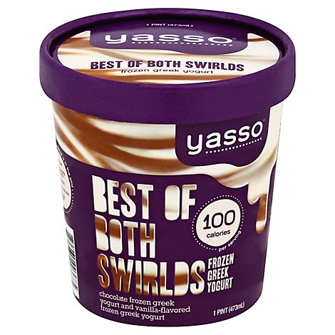 Yasso Yogurt Frozen Fudge Swirl - 16 FZ