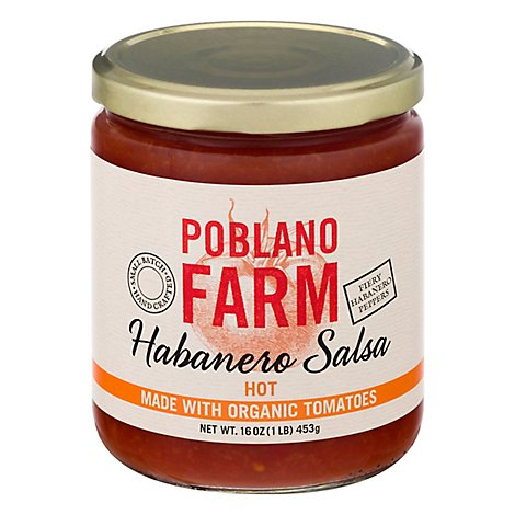 Poblano Farm Salsa Habanero Hot - 16 OZ