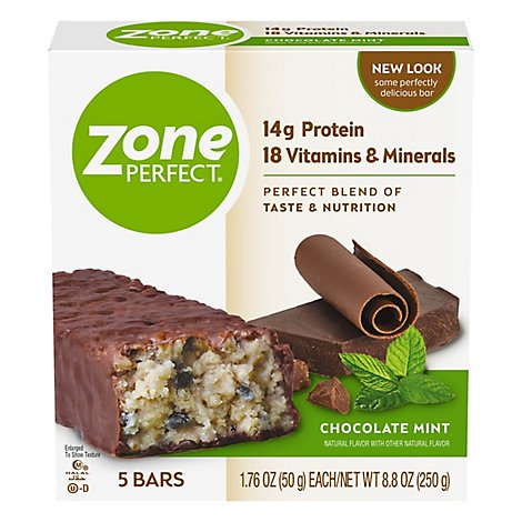 Zone Perfect Chocolate Mint W/other Natural Flavors Nutrition Bars - 5-1.76 OZ
