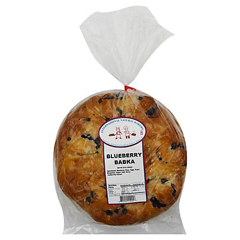 Sweet Babka Bread With Fresh Blueberry Filling From International Natural - 24 OZ