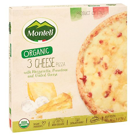 Monteli Pizza Pizza 3 Cheese - 12.34 OZ
