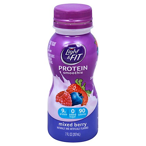 Dannon Light And Fit Protein Smoothies Mixed Berry - 7 FZ