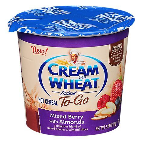 Cream Of Wheat To Go Cup Mixed Berry With Almonds - 2.29 OZ