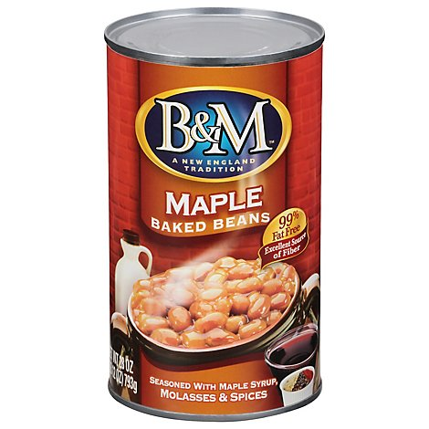 B&m Maple Baked Beans Canned 28oz - 28 OZ