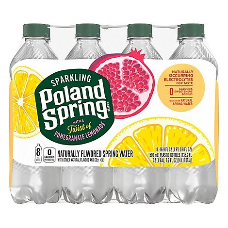 Poland Spring Sparkling Pomegranate Lemonade - 8-16.9 FZ