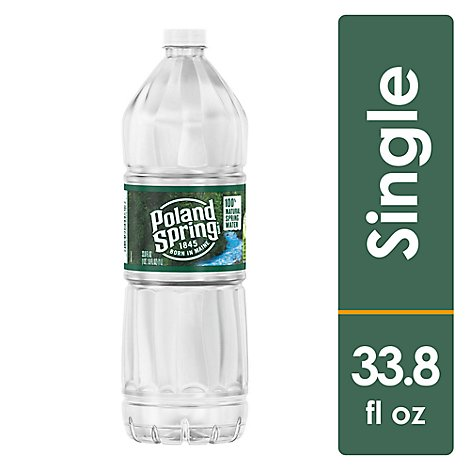 Poland Spring Natural Spring Water - 33.8 FZ