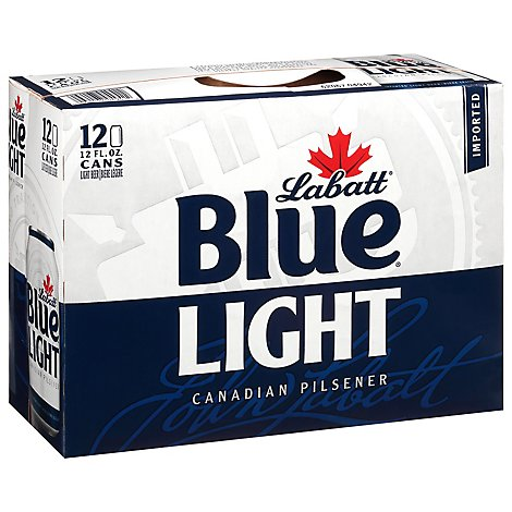 Labatt Blue Beer Light Pilsner In Cans - 12-12 FZ