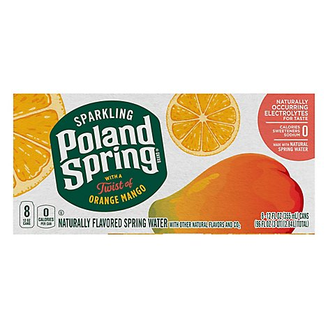 Poland Spring Spark Orange Mango Can - 8-12 FZ