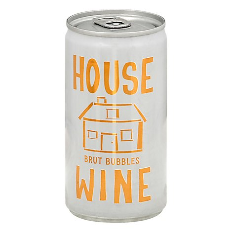 House Wine Brut Bubbles Can Wine - 187 ML