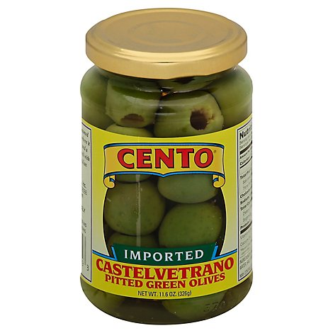 Cento Regular Pitted Cerignola Olives - 11.6 OZ