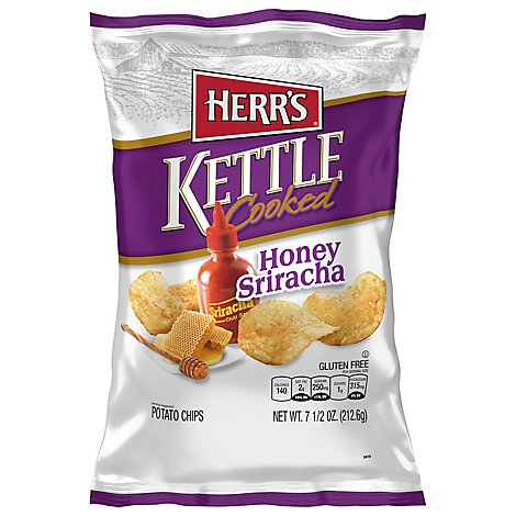 Herrs Kettle Cooked Honey Sriracha Potato Chips - 7.5 OZ