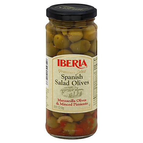 Iberia Spanish Salad Olives Glass - 7 OZ