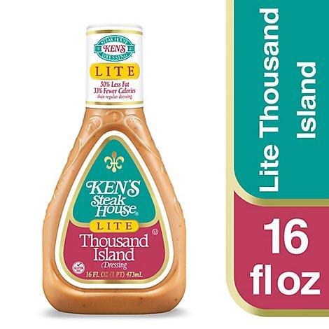 Kens Steak House Thousand Island Salad Dressing Light 50 Less Fat 16 Oz 16 Fz Safeway