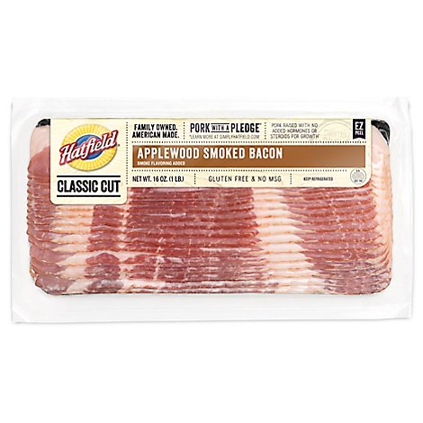 Hatfield Sliced Applewood Bacon - 16 OZ