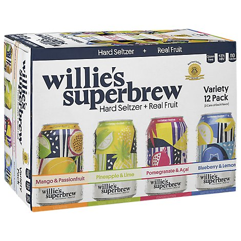 Wille's Superbrew Variety Pack In Cans - 12-12 FZ