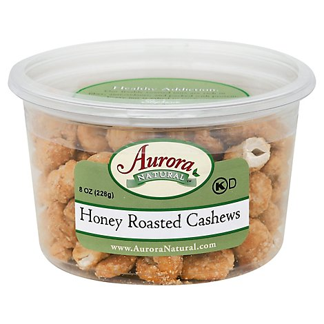 Aurora Cashews Honey Rstd - 8.5 OZ