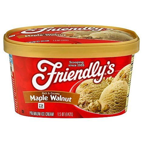Friendlys Mpl Wlnt Ice Cream - 1.5 QT