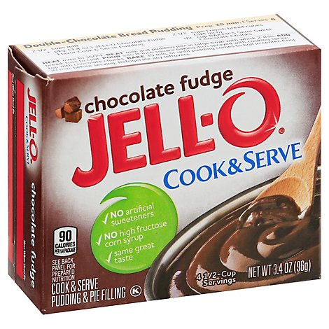 Jello Choc Fudge Pu - 3.4 OZ