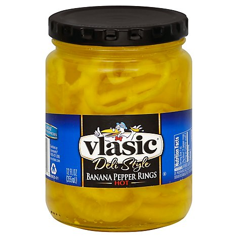 Vlasic Hot Banana Ppr Rings - 12 OZ