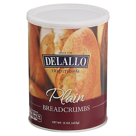 Delallo Breadcrumb Plain - 15 OZ