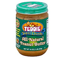 Teddie Super Chunky All Natural Peanut Butter - 16 OZ