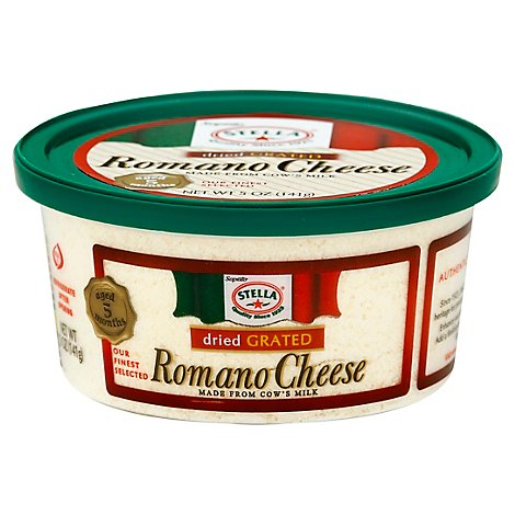 Stella Dry Grated Romano Cheese Cup - 5 OZ