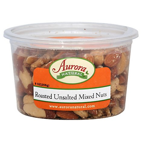 Aurora Mixed Nuts No Salt - 9 OZ