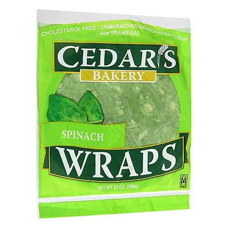Cedar's Spinach Wrap - 10 OZ